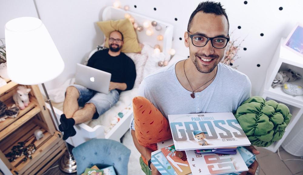 Mic in Rado, ustanovitelja podjetja Mali junaki (Vir: osebni arhiv)