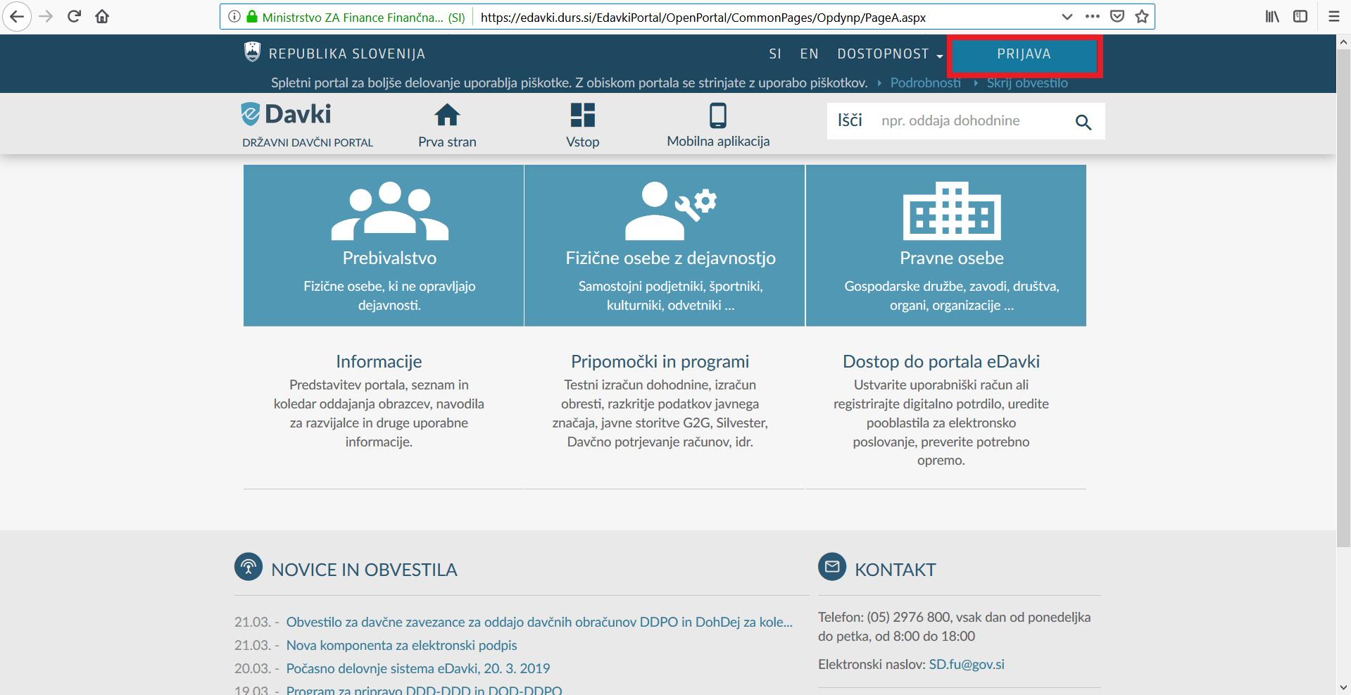 Kako dostopati do portala eDavki?