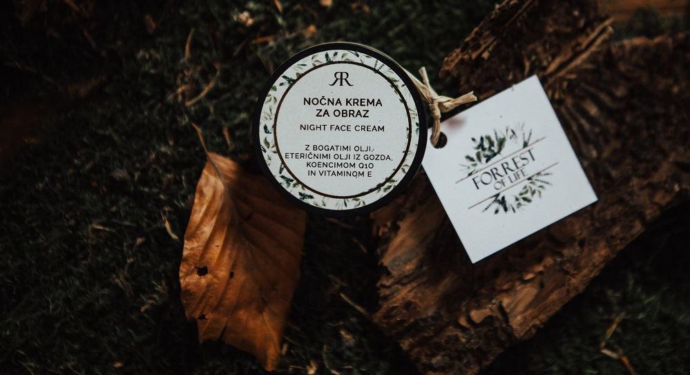 Eden izmed izdelkov v sklopu blagovne znamke kozmetike Forrest of life (Vir: osebni arhiv)