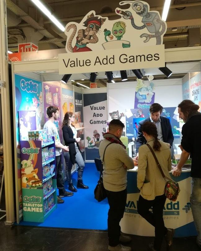 Ekipa Value Add Games na največjem sejmu igrač v Neurembergu (vir: osebni arhiv)