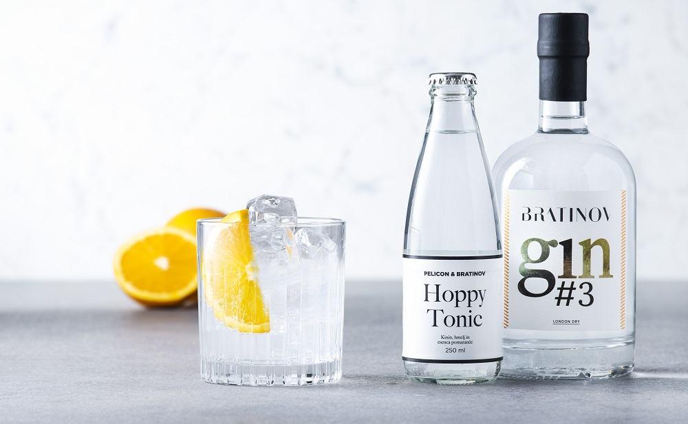 Hoppy Tonic in Bratinov gin (Foto: Miha Bratina)