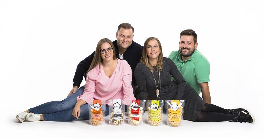 Ekipa, ki stoji za blagovno znamko Pokica (Foto Miran Juršič)