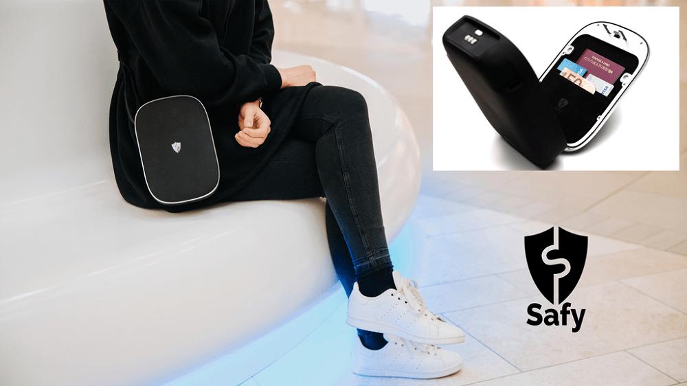 Safy - torbica, ki s številnimi varnostnimi mehanizmi vaše stvari zavaruje pred krajo (Vir: Kickstarter)