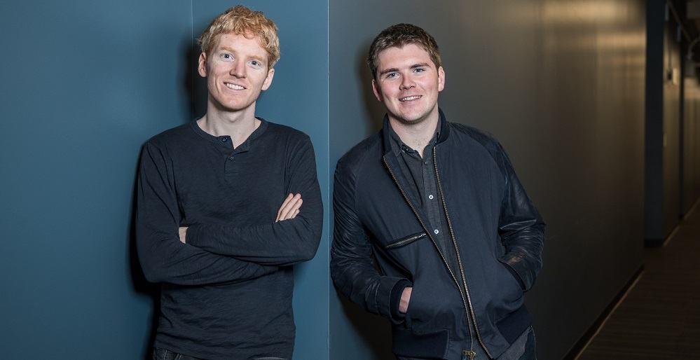 Ustanovitelja podjetja Stripe, Patrick in John Collison (Vir: Stripe)