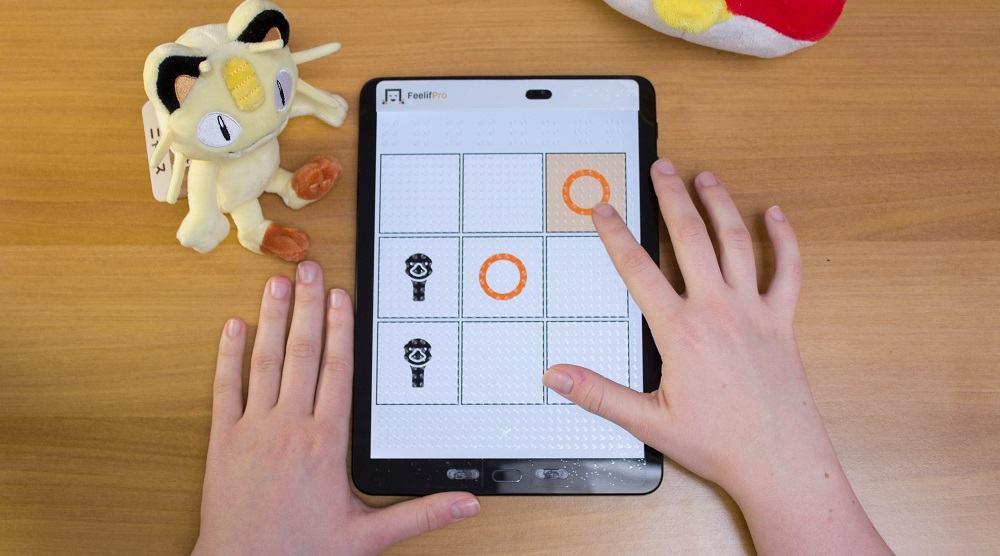 Igranje iger s Feelif za slepe in slabovidne (Vir: Feelif)