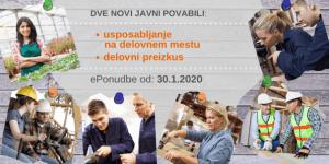 Novi javni povabili: za usposabljanje in delovni preizkus